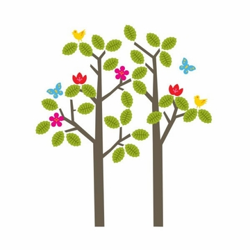 Wall Candy notNeutral Seasons Tree Wall Decals