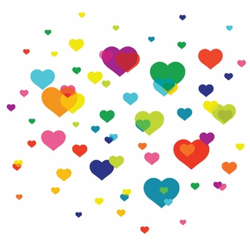 Wall Candy Overlapping Hearts Wall Decals