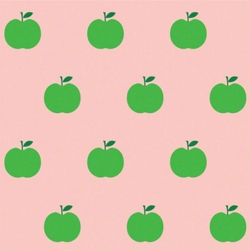 Wall Candy Pink & Green Apple Peel-and-Stick Wallpaper - Half Kit