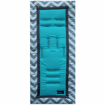 Booyah Baby Stroller Liner - Turquoise Cheeky Chevron