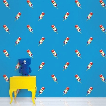 Wall Candy Push Pops Blue Peel-and-Stick Wallpaper - Half Kit
