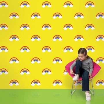 Wall Candy Rainbow Yellow Peel-and-Stick Wallpaper - Full Kit