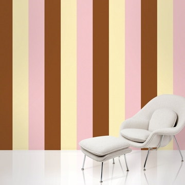 Wall Candy Stripe Neapolitan Peel-and-Stick Wallpaper - Half Kit