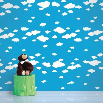 Wall Candy Summer Clouds Peel-and-Stick Wallpaper - Half Kit