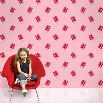 Wall Candy Twin Pops Pink Peel-and-Stick Wallpaper - Full Kit