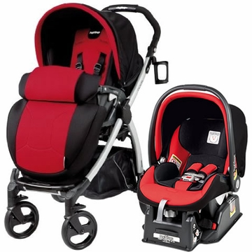 Peg Perego Book Plus & Viaggio Travel System - Flamenco (Red)