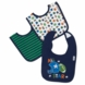Gerber Boy 3 Pack Interlock Dribbler Bibs - Little Sport