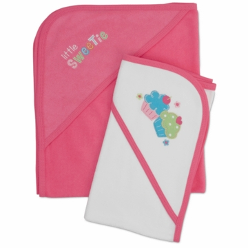 Gerber Girl 2 Pack Hooded Towels - Little Sweetie