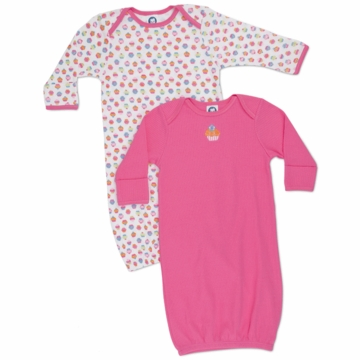 Gerber Girl 2 Pack Lap Shoudler Gowns - Little Sweetie