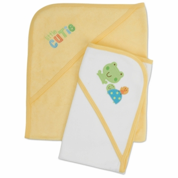 Gerber Neutral 2 Pack Hooded Towels - Little Cutie