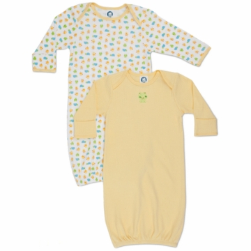 Gerber Neutral 2 Pack Lap Shoudler Gowns - Little Cutie
