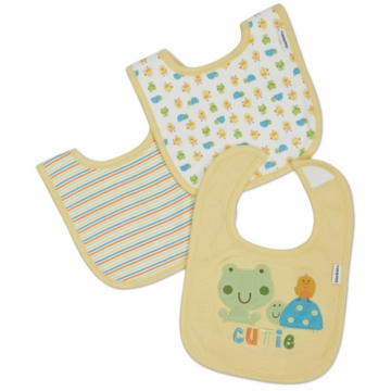 Gerber Neutral 3 Pack Interlock Dribbler Bibs - Little Cutie