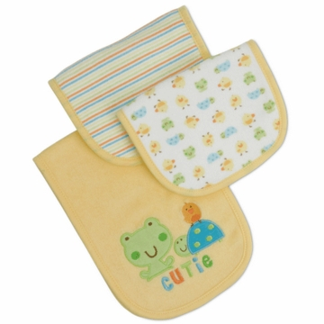 Gerber Neutral 3 Pack Terry Burp Cloths - Little Cutie