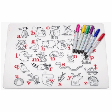 Modern Twist Alphabet Animals Kidz Box with 6 Markers
