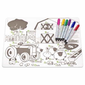 Modern Twist Farm Buddies Kidz Box with 6 Markers