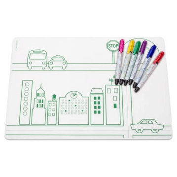 Modern Twist DwellStudio City Transportation Kidz Box with 6 Markers