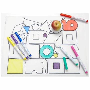 Modern Twist DwellStudio Animal Blocks Kidz Box with 6 Markers