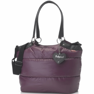 Babymel Camden Carry All Diaper Bag in Aubergine
