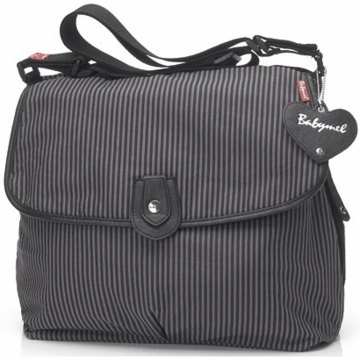 Babymel Satchel Diaper Bag in Grey Stripe