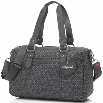 Babymel Ella Quilted Diaper Bag in Pewter