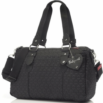 Babymel Ella Quilted Diaper Bag in Black