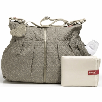 Babymel Amanda Quilted Diaper Bag in Moss