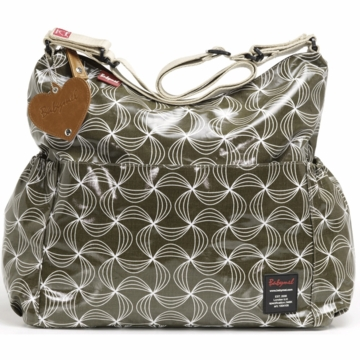 Babymel Big Slouchy Twisted Diaper Bag in Olive