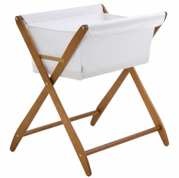 Cariboo Folding Bassinet in Teak