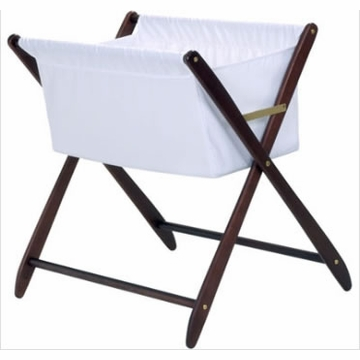 Cariboo Folding Bassinet in Mahogany