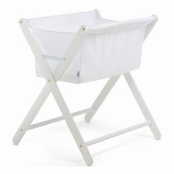 Cariboo Folding Bassinet in White