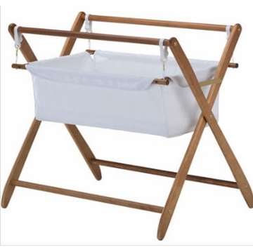 Cariboo Gentle Motions Bassinet in Teak