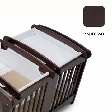 Cariboo Crib Top Changer in Espresso