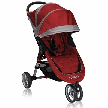 Baby Jogger City Mini Single 2013 Stroller Crimson / Gray