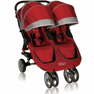 Baby Jogger City Mini Double 2013 Stroller Crimson / Gray