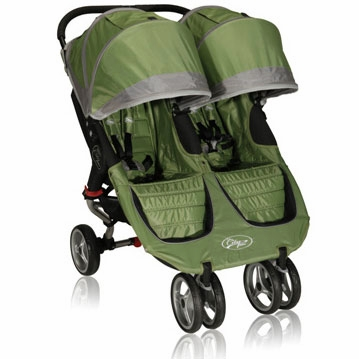 Baby Jogger City Mini Double 2013 Stroller Green / Gray