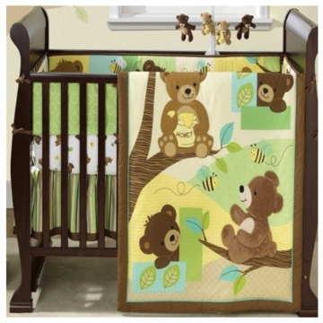 Bedtime Originals Honey Bear 3 Piece Crib Bedding Set