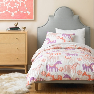 DwellStudio Unicorn Peony Twin Duvet Set