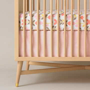 DwellStudio Crib Skirt - Solid Pink