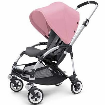 Bugaboo Bee Plus Stroller - Black / Soft Pink