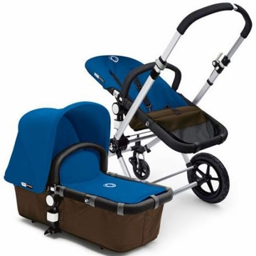 Bugaboo Cameleon Plus - Brown Base / Royal Blue Fabric