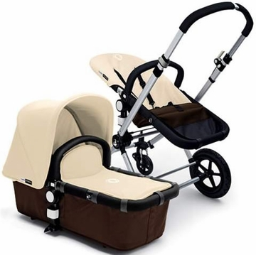 Bugaboo Cameleon Plus - Brown Base / Off White Fabric - Outlet
