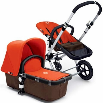 Bugaboo Cameleon Plus - Brown Base / Orange Fabric