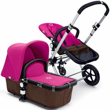 Bugaboo Cameleon Plus - Brown Base / Pink Fabric