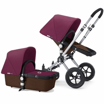 Bugaboo Cameleon Plus - Brown Base / Purple Fabric