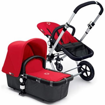 Bugaboo Cameleon Plus - Grey Base / Red Fabric