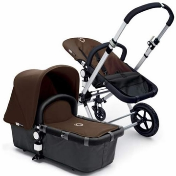 Bugaboo Cameleon Plus - Grey Base / Brown Fabric