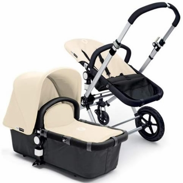 Bugaboo Cameleon Plus - Grey Base / Off White Fabric