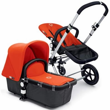 Bugaboo Cameleon Plus - Grey Base / Orange Fabric
