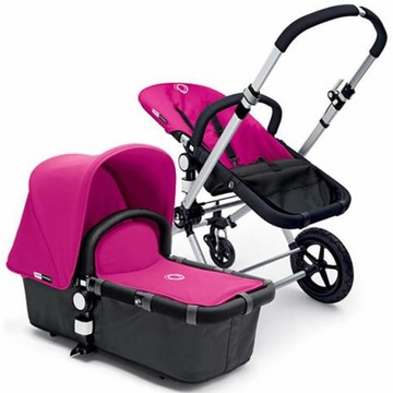 Bugaboo Cameleon Plus - Grey Base / Pink Fabric