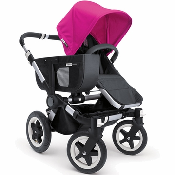 Bugaboo Donkey Compact Fold Mono Stroller in Black/Pink